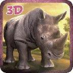3D愤怒的犀牛模拟器游戏 1